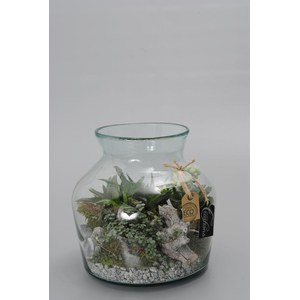 Arrangement Richesse  Verre 24 cm