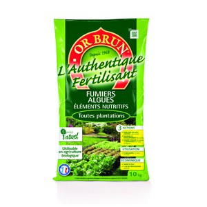 Or brun  Fertilisant jardin Or brun 10kg  10 Kg