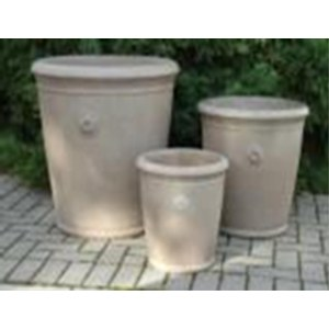 Pot coventry old roman Beige 42x42cm