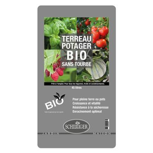 Schilliger Production  Terreau Potager Bio Schilliger sans Tourbe  45L