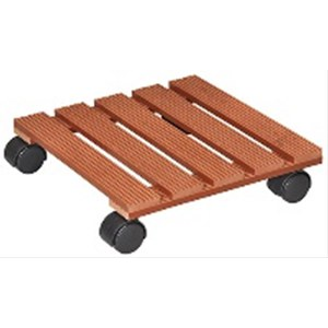 Chariot Multi WPC290x290mm,WPC,terracotta4xDR,d40mm,TK60kg  290x290mm Sup 60kg