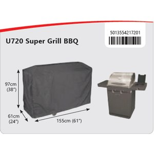 Bosmere  Housse Barbecue Super grill Gris anthracite 155x61x97cm