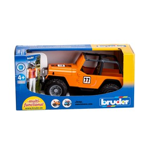 BRUDER Jeep Cross Country Racer orange avec pilote