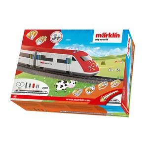 Märklin my world Coffret de départ .train à grand vitesse rameà cinque éléments Rouge cerise 61cm