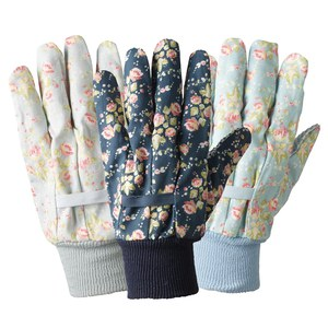 Briers  Gants cotton triple pack Flower Girl Julie Dodsworth Bleu roi Medium
