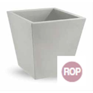 Pot Single 35 cm carré ROSE PASTEL Rouge rose Mountbatten 35x35cm