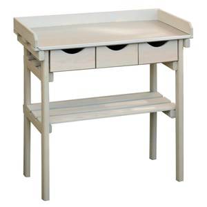 Schilliger Sélection  Table de rempotage cool Gray Beige lin 79 x 39 x 86cm