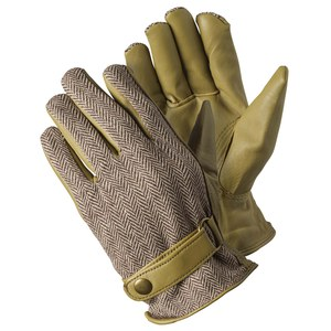 Briers  Gants Beige Herringbone Beige lin Large
