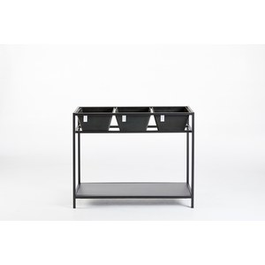 Ecopots  Berlin Grow Table Dark Grey - étagère avec pots Gris anthracite 102x36x80cm 3x10l