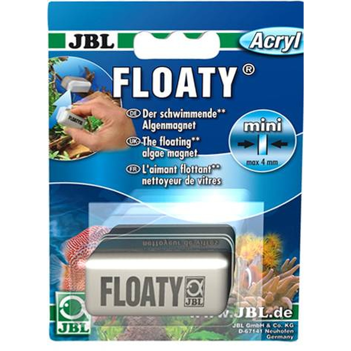 JBL Floaty  Mini Acryl  max. 4mm D/GB/F
