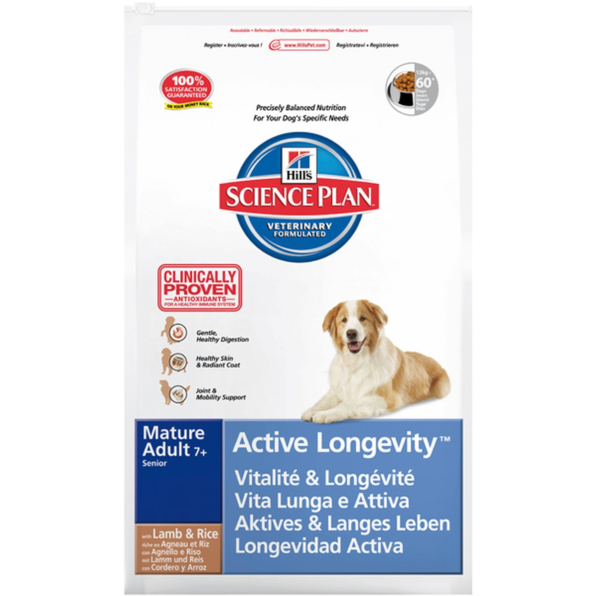 Science Plan  Mature Adult Active Longevity Agneau et riz 12kg  12kg