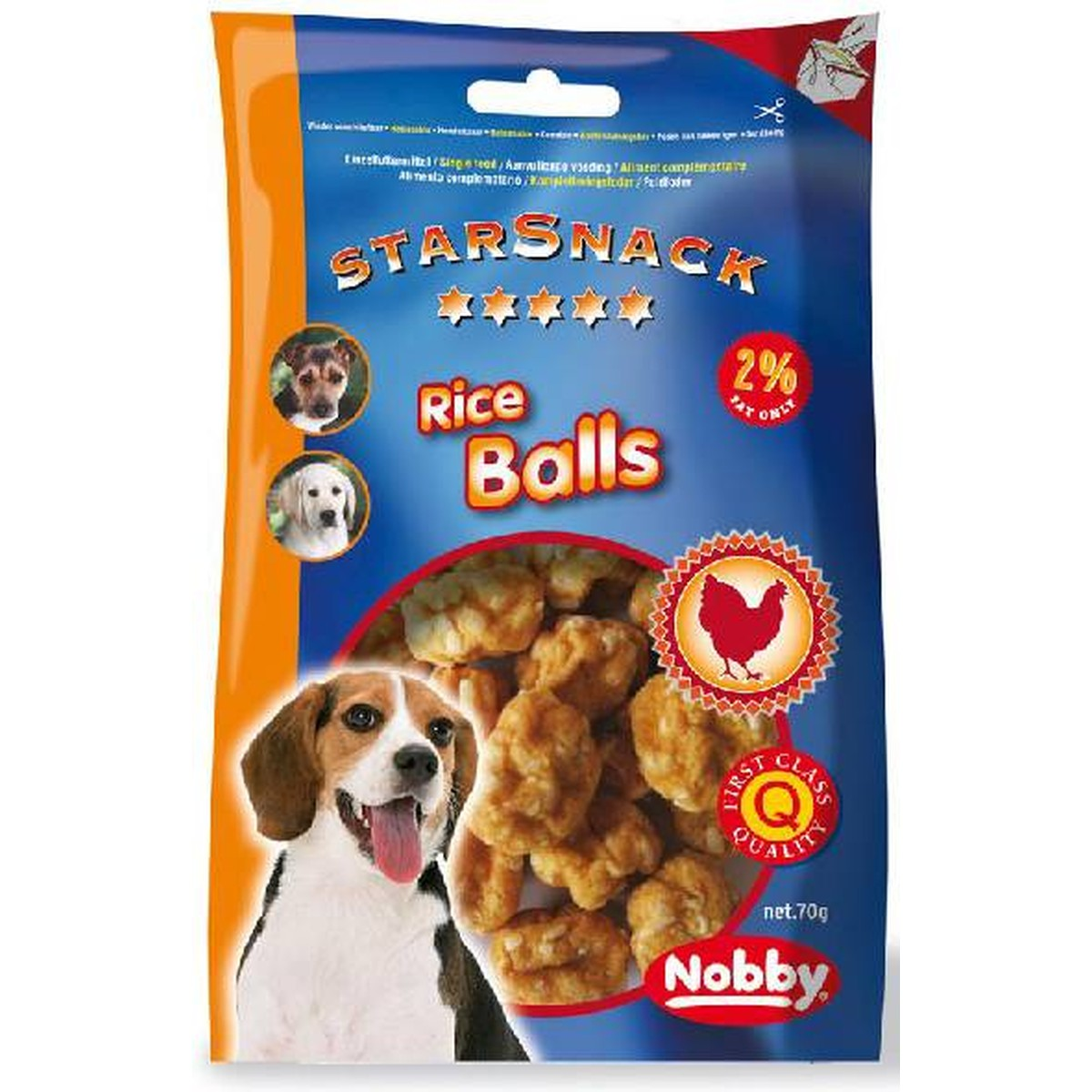 StarSnack Chicken Treats Riceball. 113 g