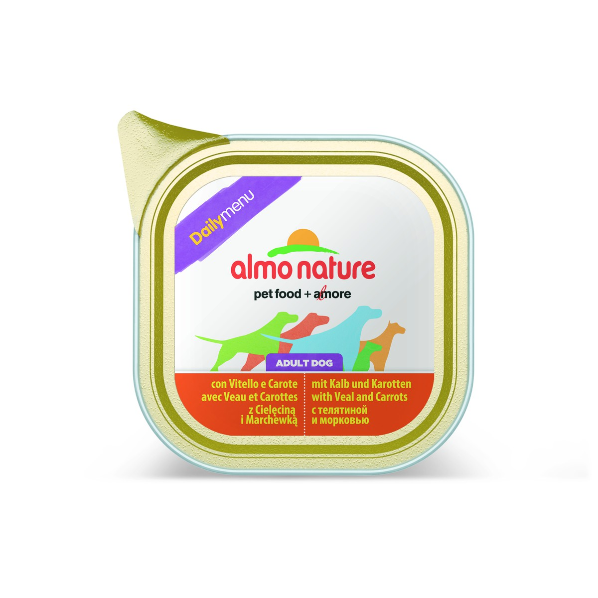 Almo nature  Almo nature PFC Dog daily menu Veau and Carottes 100g  100 g