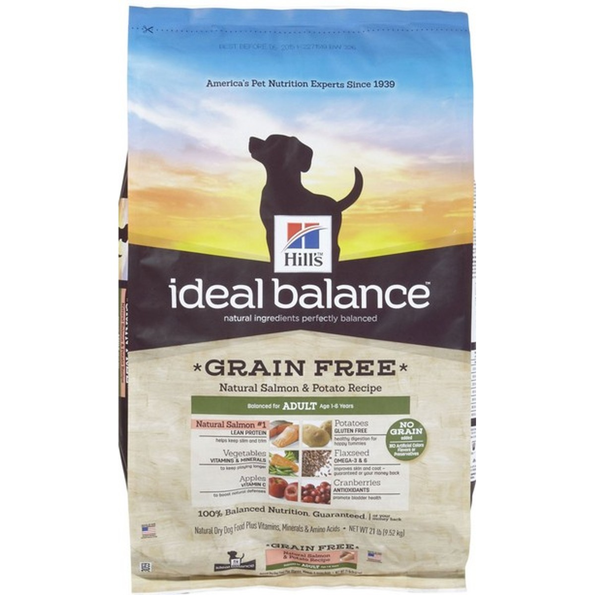 Ideal Balance  Adult No Grain  Poulet et pomme de terre 12kg  12 kg