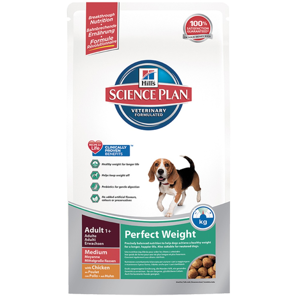 Science Plan  Canine Perfect Weight adult Medium au poulet 10 kg  10 kg