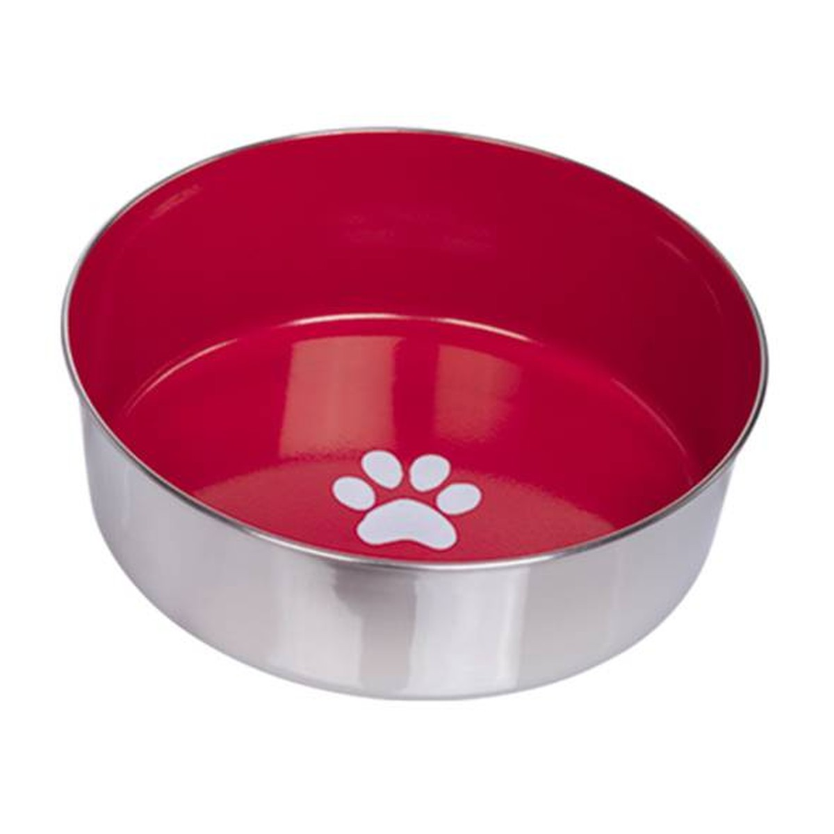 Gamelle inox Heavy Paw, rouge