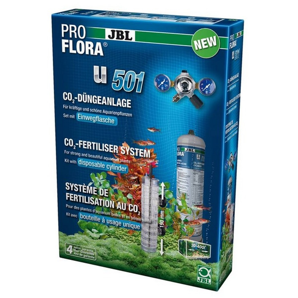 JBL ProFlora u501 (Set CO2), 400 l