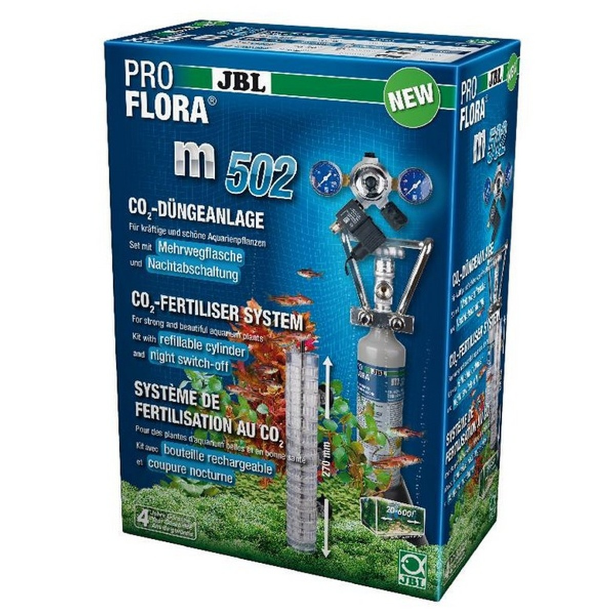 JBL ProFlora m502 (Set CO2)  600l,