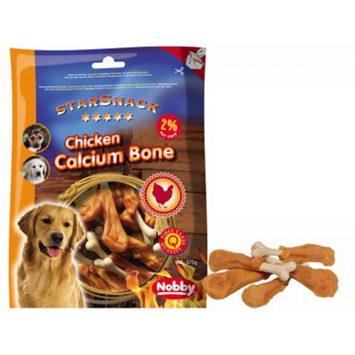 Barbecue Chicken Calcium Bone, 375 g  375 g