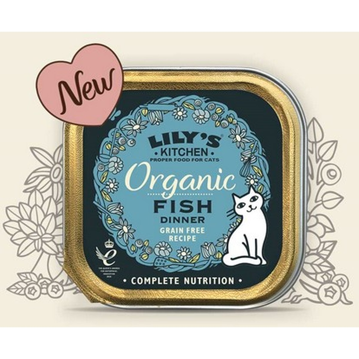 Lily's cat Adult Organic Fish Dinner 85g  85g