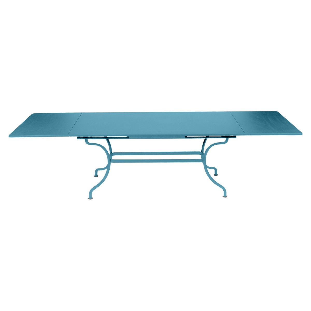 Fermob ROMANE Table Romane rectangulaire à allonges Bleu turquoise 200/300x100cm
