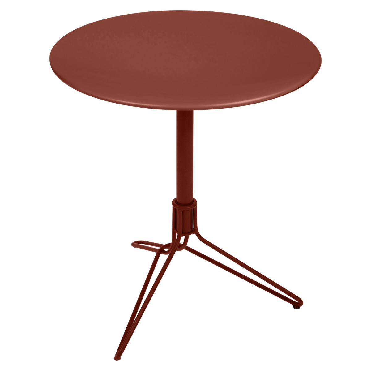 Fermob Flower Table Flower ronde Rouge ocre L 67 x l 67 x H74cm Diam : 67