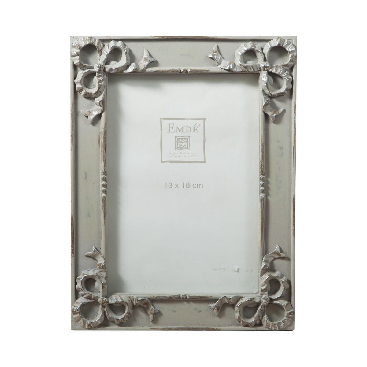 cadre photo gris argent 4 noeuds 13x18 schilliger. Black Bedroom Furniture Sets. Home Design Ideas