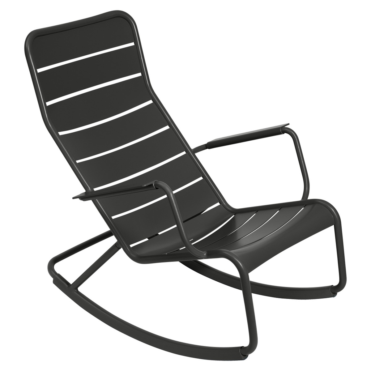 Fermob LUXEMBOURG Rocking Chair Luxembourg Noir charbon 99x50x69.5cm