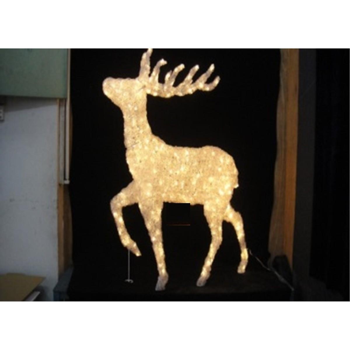 cerf lumineux debout int ext led chaude 120l 80cm 8m. Black Bedroom Furniture Sets. Home Design Ideas