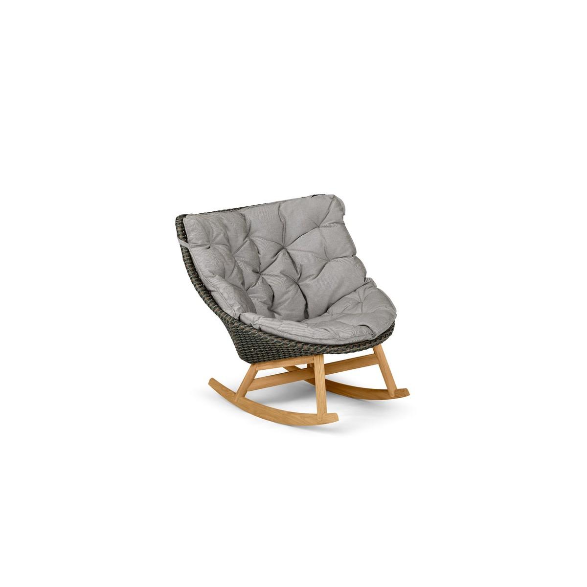 Dedon Mbrace Rocking Chair Mbrace Gris Fer 107x89x97cm