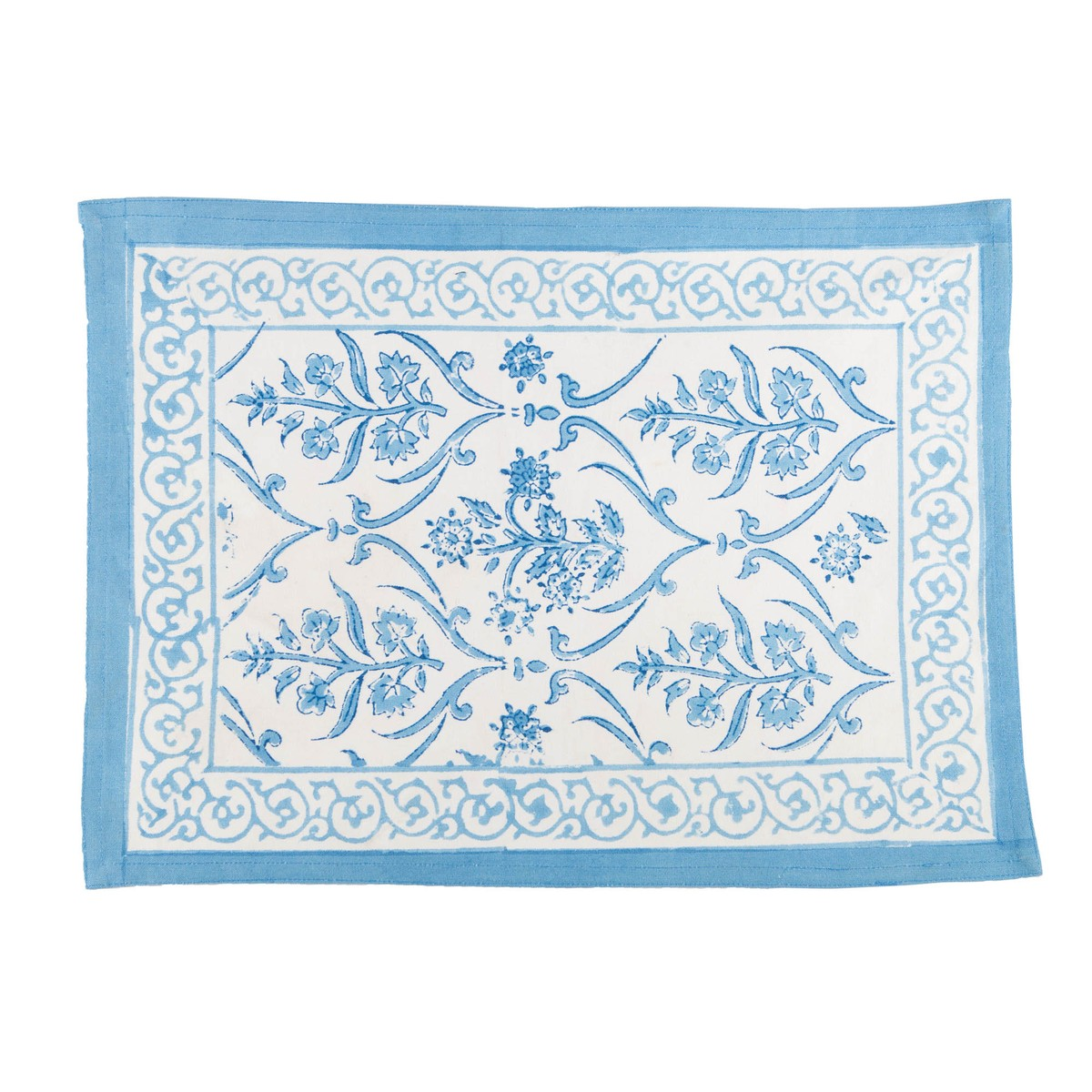 Set de table Oeillet de chine Blanc-bleu 32x45cm