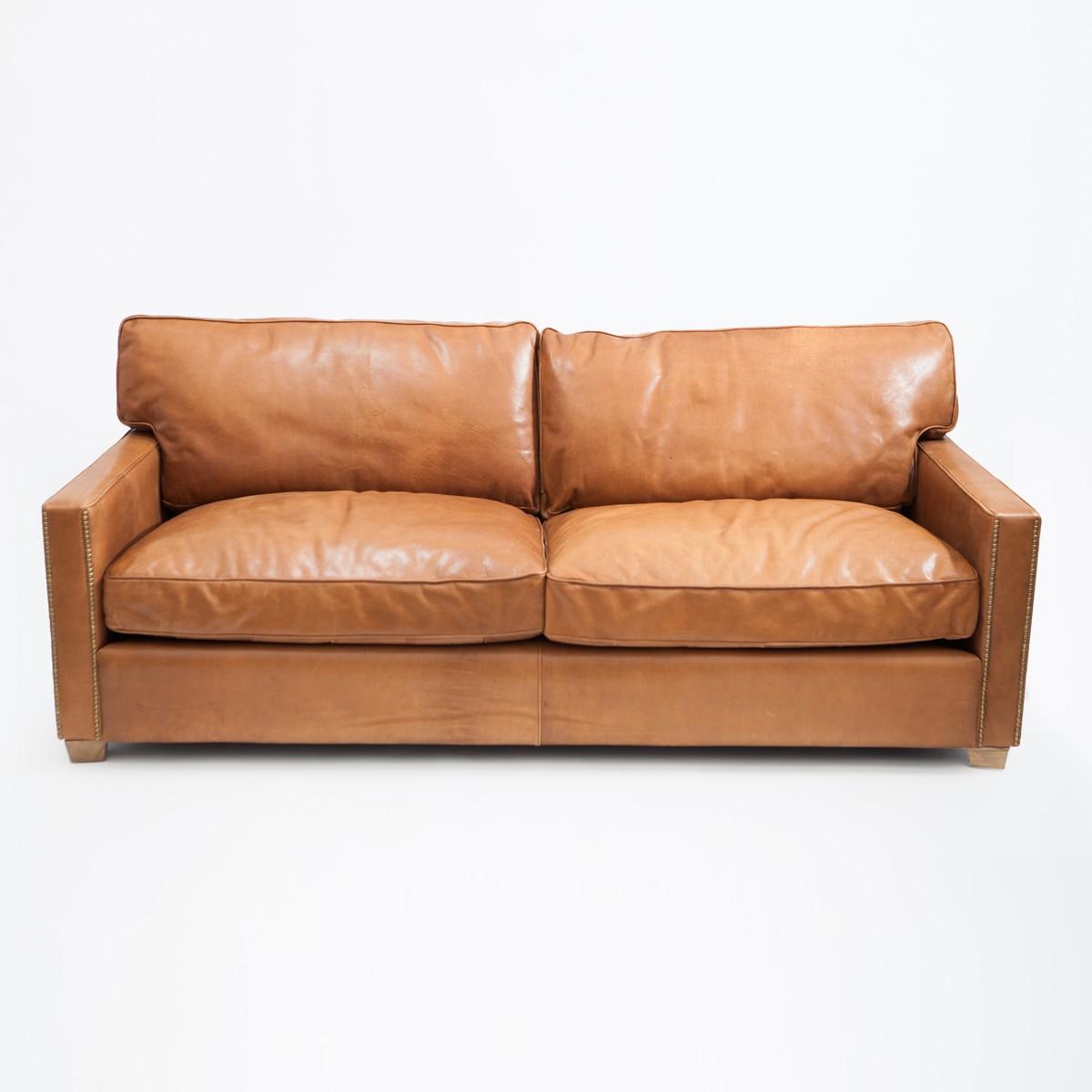 halo creative canap viscout william 3 places brun noisette 222x101x88cm. Black Bedroom Furniture Sets. Home Design Ideas