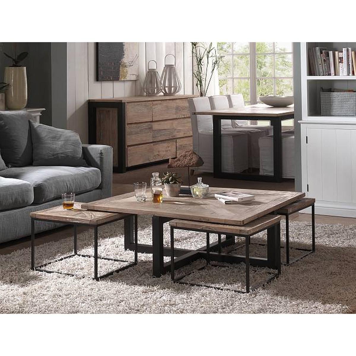 pr interiors florida table basse florida avec 4 tables gigognes 110x110x40cm schilliger. Black Bedroom Furniture Sets. Home Design Ideas