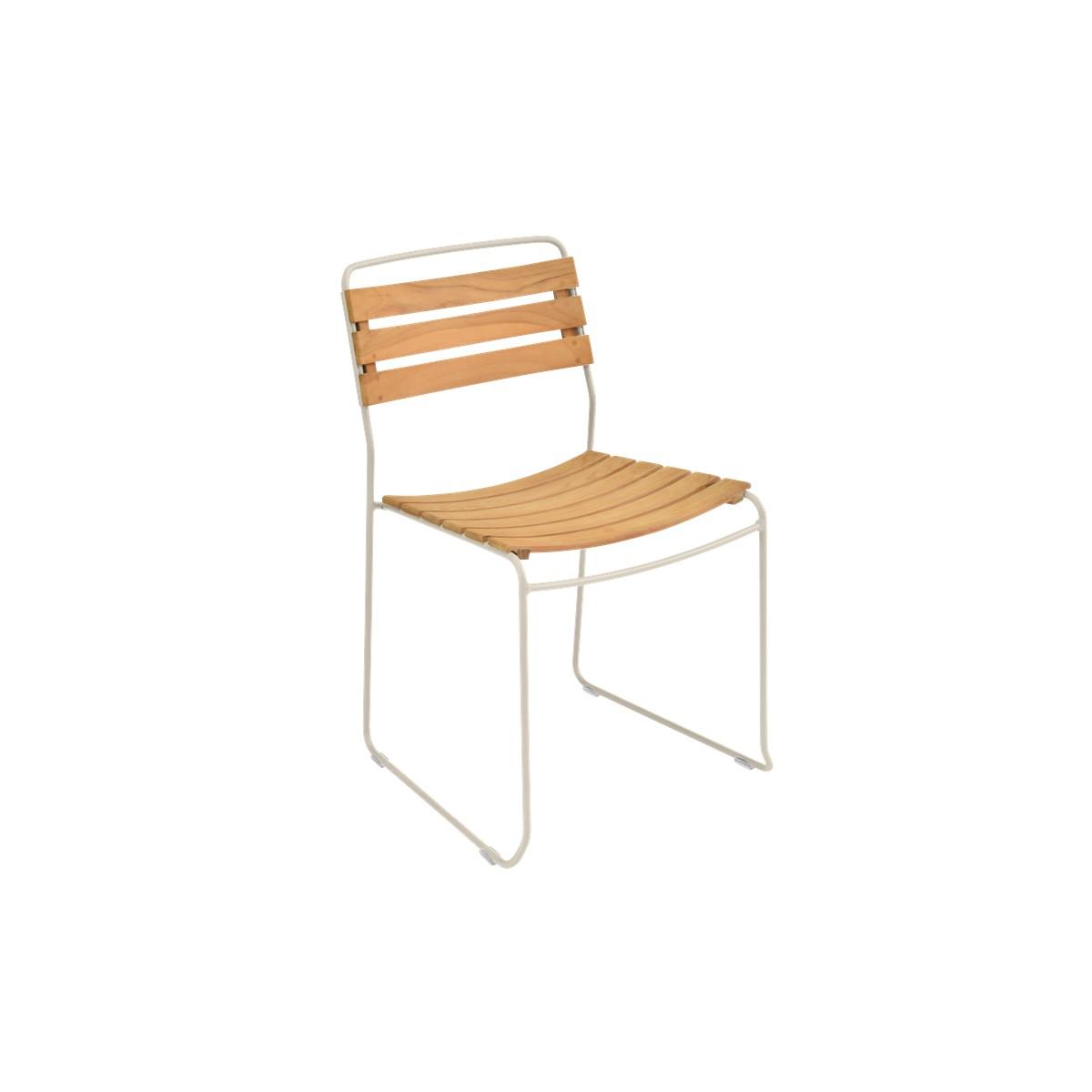 fermob surprising chaise surprising teak blanc de meudon. Black Bedroom Furniture Sets. Home Design Ideas