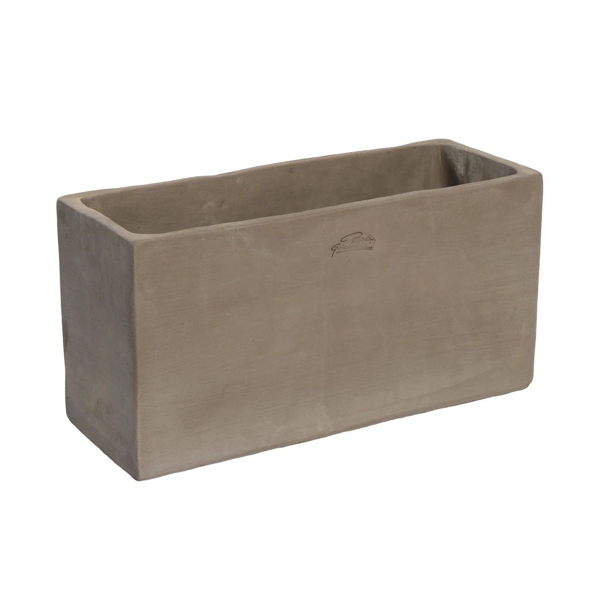 poterie goicoechea jardiniere haute 50 cms gris 52x20x25cm 16 l schilliger. Black Bedroom Furniture Sets. Home Design Ideas
