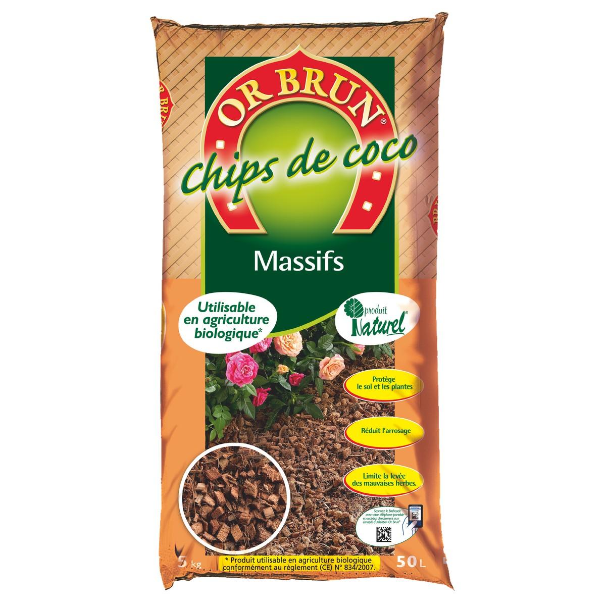 Paillis Noix De Coco chips de coco 50 l